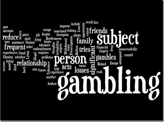 Pathological Gambling DSM IV